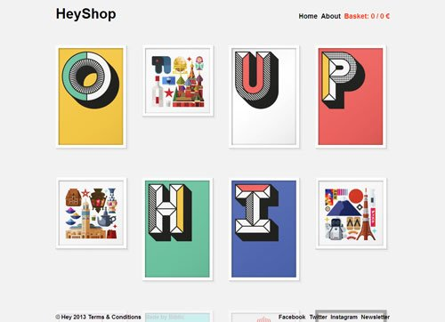 网格布局网页 Hey Shop