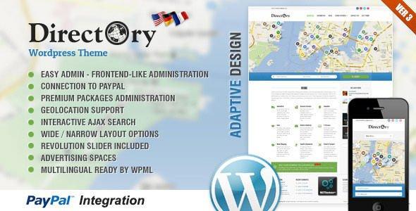 Wordpress主题:directory