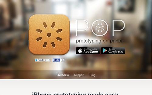 原型制作工具 pop