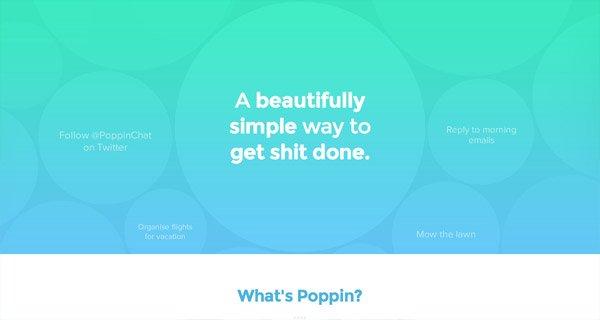 网页设计:Poppin