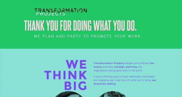 网页设计:Transformation Projects