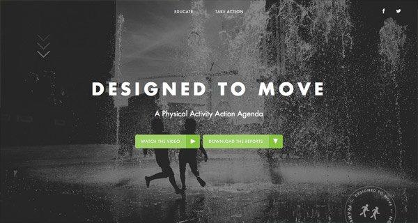网页设计:Designed To Move