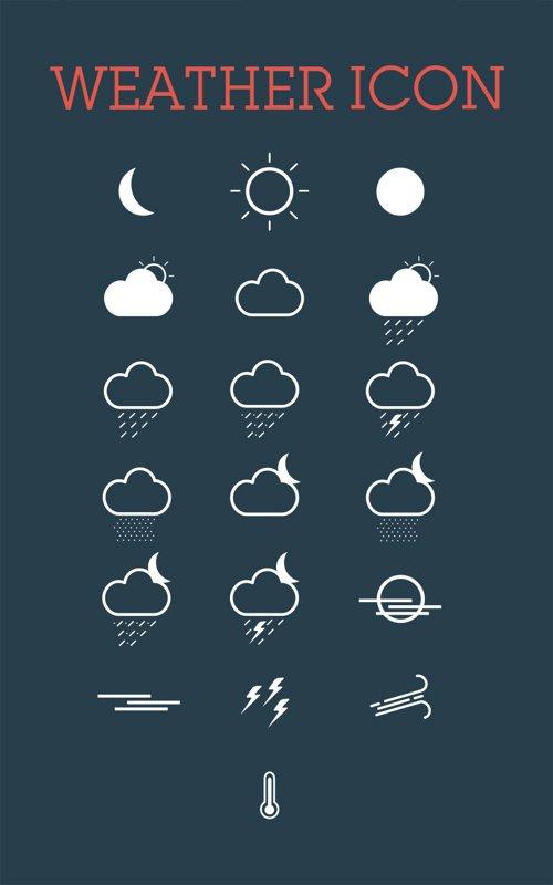 Weather Icon Set 设计素材下载