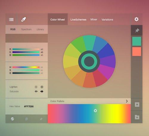 Adobe Color Wheel Redesign Free PSD 设计素材下载
