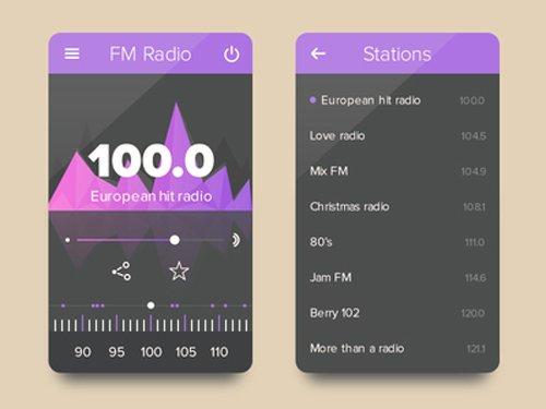 Radio UI 设计素材下载
