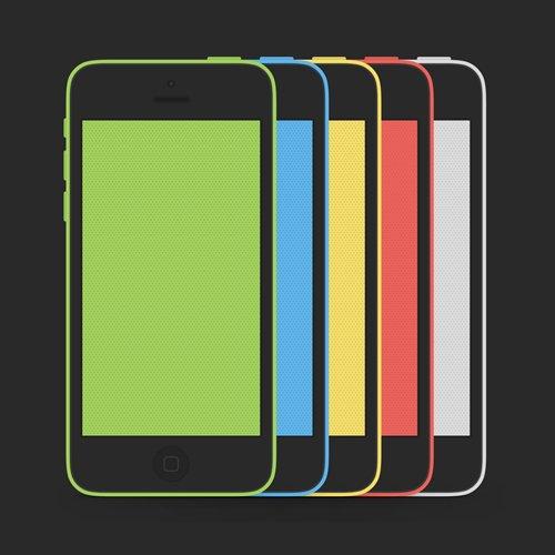 iPhone 5C Mockup 设计素材下载