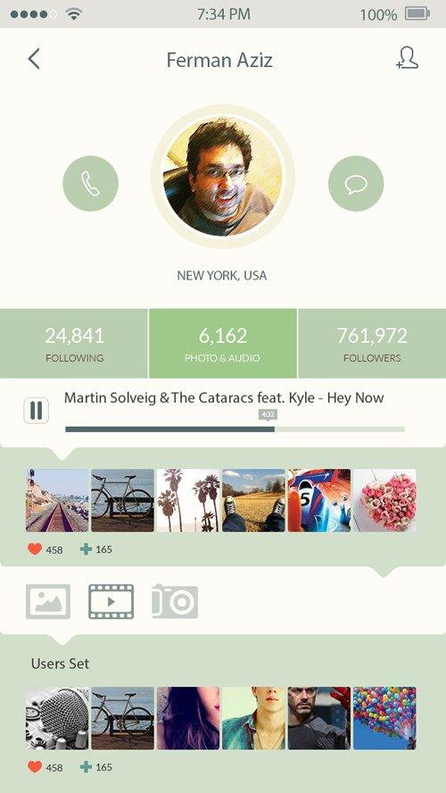 iOS7 App Design 设计素材下载