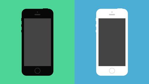 Flat iPhone 5S Psd Vector Mockup 设计素材下载