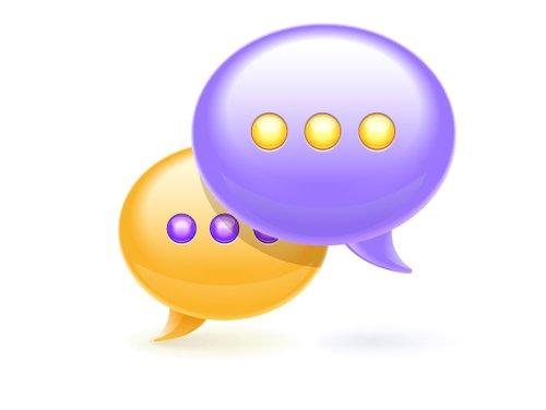 Chat bubble icon 设计素材下载
