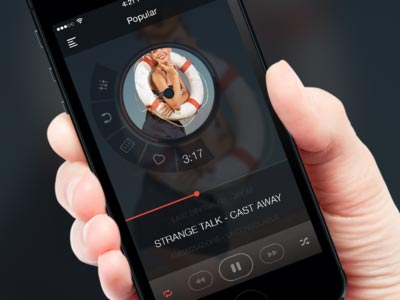 Music player app @2x ui设计