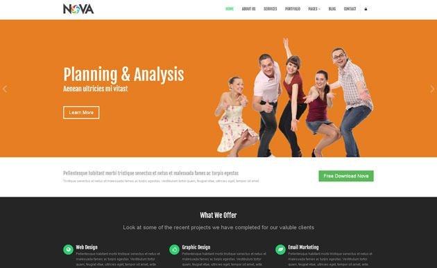 nova 网站模板