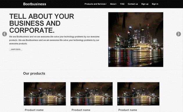 bootbusiness 网站模板