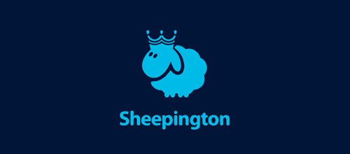 Sheepington 绵羊logo
