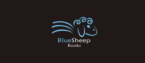 Blue Sheep Books 绵羊logo
