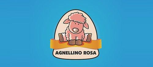 Agnellino rosa 绵羊logo