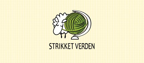 Strikket Verden 绵羊logo