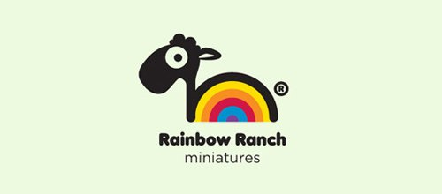Rainbow Ranch Miniatures 绵羊logo