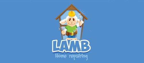 Lamb home repairing 绵羊logo