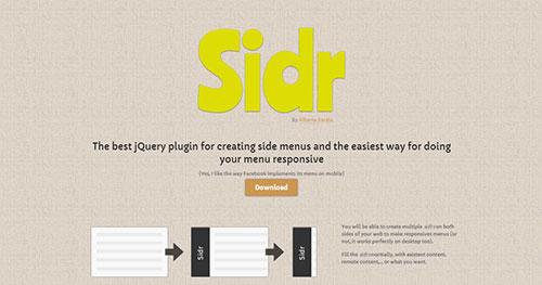 手机菜单插件:Sidr