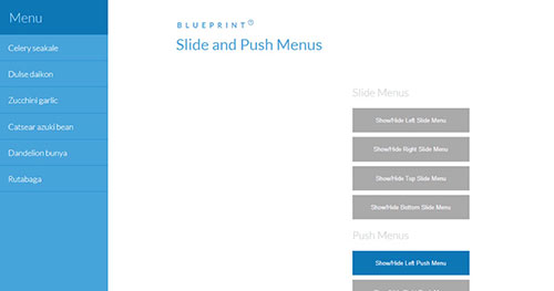 手机菜单插件:Slide and Push Menus