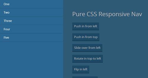 手机菜单插件:Pure CSS Responsive Nav