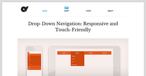 手机菜单插件:Drop-Down Navigation: Responsive and Touch-Friendly