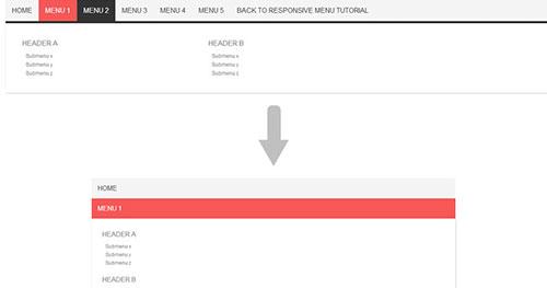 手机菜单插件:CSS3 Responsive menu
