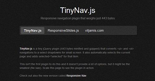 手机菜单插件:TinyNav.js
