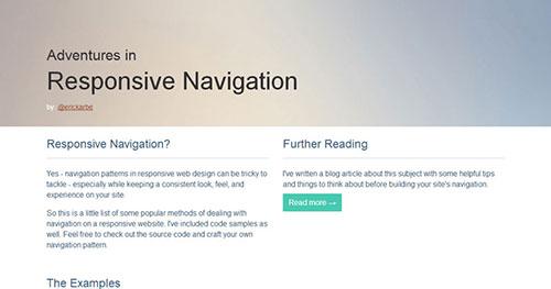 手机菜单插件:Responsive Navigation