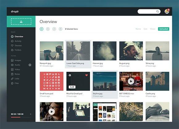 简约的网站后台设计,用于展示用户的图片作品.