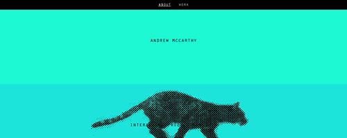 Andrew McCarthy - 时尚 简约网页设计