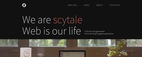 Scytale - 时尚 简约网页设计