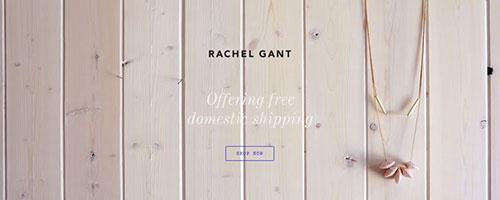 Rachel Gant Jewelry - 时尚 简约网页设计
