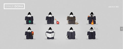 Shaun Dona - 时尚 简约网页设计