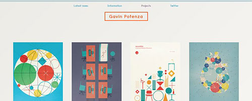 Gavin Potenza - 时尚 简约网页设计