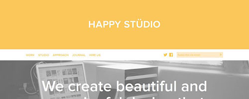 Happy Studio - 简约网站