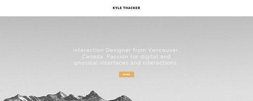 Kyle Thacker - 时尚 简约网页设计