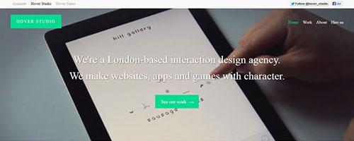 Hover Studio - 极简网页设计
