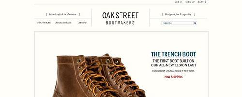 Oak Street Bootmakers - 时尚 简约网页设计