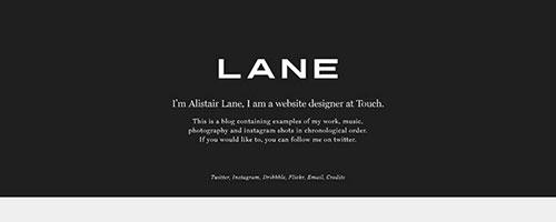 Alistair Lane - 时尚 简约网页设计