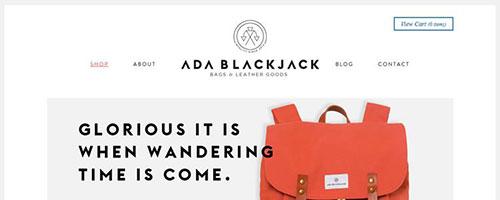 Ada Blackjack Shop - 时尚 简约网页设计