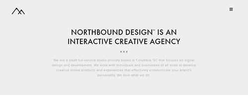 Northbound Design - 时尚 简约网页设计