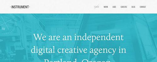 Instrument - 时尚 简约网页设计