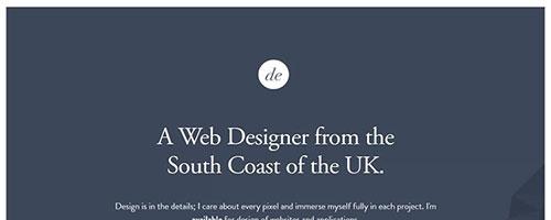 Dan Edwards - 时尚 简约网页设计