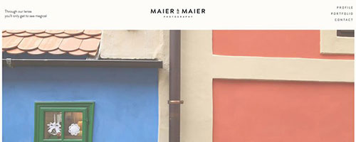 Maier & Maier Photography - 简洁网页设计