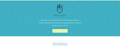 Rype Arts - 时尚 简约网页设计