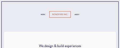 Bondfire Inc. - 时尚 简约网页设计
