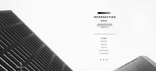 Intersection - 简约网页设计