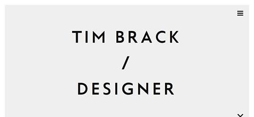 Tim Brack - 时尚 简约网页设计