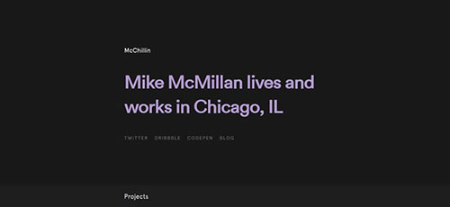 McChillin - 时尚 简约网页设计